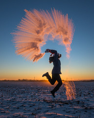Christmas Day 2017 (WherezJeff) Tags: winter steam water hotwater sunset leaping severecold d850