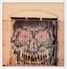 L.A. Street Art 132 (tobysx70) Tags: polaroid originals color sx70 instant film sx70sonar sonar mural midway place dtla los angeles la california ca face monster door graffiti street urban art spray paint blur blurry toby hancock photography