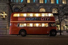 RTL453 (gooey_lewy) Tags: rt leyland bus rtl double decker london timeline events tle christmas lights 453 ensign ensignbus night evening twilight dark after hours klb 648 people red classic iconic pd2 city advertising 9 route