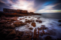 Running Red (Augmented Reality Images (Getty Contributor)) Tags: longexposure seascape coastline landscape sunset scotland waves water leefilters colours morayfirth canon hopeman clouds rocks unitedkingdom gb nisifilters