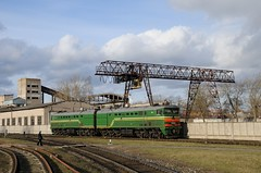 Belarusian 2TE10 waiting for the next train (berlinger) Tags: daugavpils lettland latvia беларускаячыгунка belarusianrailway бч bch 2тэ10 2te10