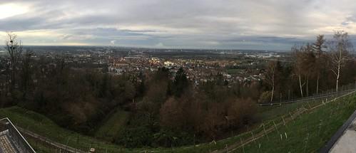 Blick vom Turmberg auf Durlach