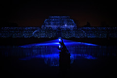 Let There Be Light (MrBlueSky*) Tags: palmhouse laser lights christmas christmaslights building architecture water night outdoor colour kewgardens royalbotanicgardens london pentax pentaxart pentaxlife pentaxk1 pentaxawards pentaxflickraward aficionados