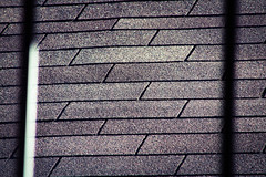 Shingles and Shadows (katyearley) Tags: 300mm canonrebelt6 rectangles fall sunny shadow lines white grey shingles
