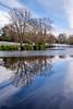 A Winter's Day (Rob..Hall) Tags: robhall squarephotography england uk birmingham birminghamuk moseley moseleypark landscape urban trees lake frozen reflection
