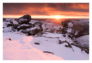 Absolutely top class morning on Kinder Scout, Peak District today. Well worth the trek through waist deep snow drifts in minus 10 degrees for the sunrise. One of the best I've ever been fortunate to witness. The new Nikon D810 setup working a treat.