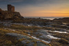 Sunrise with Lady's Tower (ola_er) Tags: elie sunrise fife tower shore sea landscape winter december morning dawn