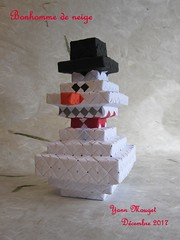 Snowman (Origaiku) Tags: origami snowman sonobe modulaire modular bonhomme neige noël