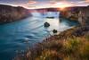 golden goðafoss (Alexander Lauterbach Photography) Tags: iceland island godafoss waterfall sunset water longexposure travel nordic autumn fall sony a7r
