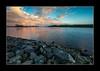 Elbufer bei Altengamme (PhotoChampions) Tags: elbe altengamme flus river rocks steine wasser water himmel sky wolken clouds blue blau red rot landschaft landscape deutschland germany hamburg