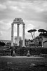 The Forum (Robeevans) Tags: rome roma europe italia italy capital city roman history ancient architecture forum columns ruins ruin old historical historic trees black white monochrome canon eos 500d rebel t1i travel travelling holiday