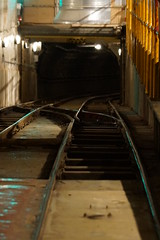 Entering the Tunnel (steve_whitmarsh) Tags: london city urban tracks tunnel underground subway