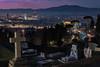 City view at twilight from the cemetery (Arunte) Tags: arunte marcofrancini firenze toscana tramonto cimiteromonumentale sanminiatoalmonte tombe città lucinatalizie sciediluce monumenti nikond850