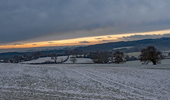 Snowy sunset. (S.K.1963) Tags: elements mosborough sunset fields snow olympus omd em1 mk ii 12 40mm pro 28