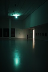 when the light is gone... (f_lynx) Tags: d700 afnikkor2814d color flynx dark lowkey man security shadows moscow russia seanscully exhibition museumexhibition museum gallery painting light reflections mamm mdf 2x3 fun