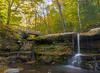Diamond Notch Falls, Spruceton, NY (Daniel Case) Tags: waterfalls catskills diamondnotch devilspath westkill autumn forest