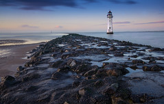 Perch Rock Lighthouse: New Brighton (northcountrygirl) Tags: wallasey wirral lighthouse newbrighton beach sea perchrock longexposure haidand