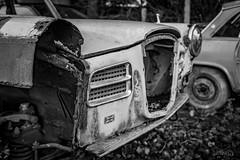 Scrapyard classic (deltic17) Tags: scrap scrapyard junk junkyard classic car classiccar old vintage british blackwhite monochrome withdrawn abandoned forgotten rust winter heritage