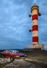 Vuelta a los 80 ( www.mariorubio.com ) Tags: coches elporís emilio faros localizaciones lugares mercedes nocturnas pirotecnia tenerife vehículos