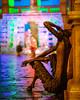 The faun and the ice sculpture (CHCaptures) Tags: advent austria eiskrippe faun graz statue steiermark styria winter a7ii batis1885 batis85 city citylights ilce7ii night sony österreich at sculpture bokeh