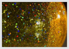 "Glitter and candlelight -Macro Mondays ""Lit by candlelight"" (Karon Elliott Edleson) Tags: 7dwf macro ornament litbycandlelight macromondays closeup christmas glitter candlelight festive sparkle tamron 60mm sooc freechoicemondays"