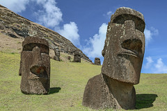 Moais (M McM) Tags: statues heads island ancient moais quarry remote travel easterisland pacific culture history rapanui ruins monuments