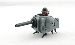 """Mighty Mite"" Mobile Pillbox (Deltassius) Tags: mobile frame zero mech mecha robot lego war military scifi steampunk dieselpunk microscale"