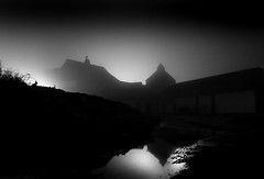Rabbit's Watch (Mousehole_Tom) Tags: atmospheric moody scary creepy haunted fog foggy night
