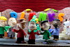 Christmas in Old Town - The Meaning (MayorPaprika) Tags: canoneosrebelt6i 112 custom diorama toy story paprihaven action figure set theater 80s 90s peanuts charliebrown lucyvanpelt linusvanpelt franklin schroeder pigpen snoopy woodstock christmas 2017 tree lights festive