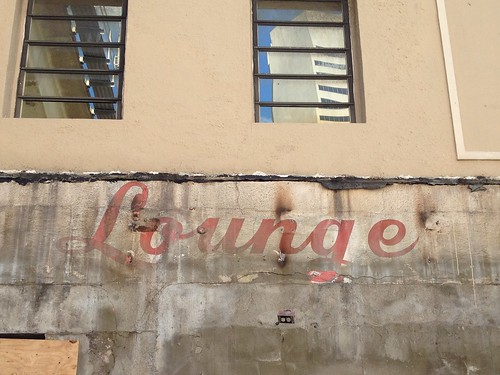 Seamen's Club Lounge Sign Uncovered Downtown Miami October 2013