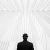 (elsvo) Tags: monochrome blackwhite minimal minimalistic bowlerhat geometric portrait liège