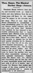 1923 - Theodore Bauer music and barber shop - Enquirer - 12 Jul 1923