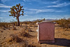 What remains when we all fade away (Maureen Bond) Tags: ca maureenbond mojave desert roadtrip bluesky cloudwhispers chair brush alone quiet joshuatree