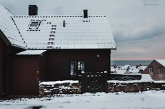 Warmth (Veistim) Tags: visby sweden gotland snow sverige wisby snö december decembersnow visbysnow veistim trees photography lake pool small house environment nature town village