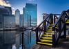 Yellow bridge (thriddle) Tags: canarywharf docklands london xtransfomer