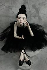 black ballet (dolls of milena) Tags: bjd resin doll popovy sisters little owl ballet black portrait