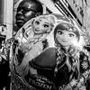 Street - Let it go, let it goooo ! (François Escriva) Tags: street streetphotography paris france candid olympus omd black fun funny white bw frozen disney song let it go photo rue woman ballon