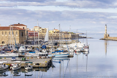 Chania Harbour, Crete (old.pappous) Tags: chania crete greece hania venetianbuildings xania harbor harborside harbour harbourside lighthouse pleasurecraft reflection reflections sailboats seascape view yachts