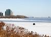 LONE FISHING (rosy outlook photography) Tags: montreal stlawrenceriver nunsisland verdun colddayintheneighbourhood newyearsday