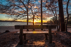 M'asseoir sur un banc 5 minutes avec toi... (GComS) Tags: banc bench couché soleil lac soir amour romantique crépuscule dusk twiglight sun evening lake water tree wood love shine briller sable sand plage beach landes pins sunshine