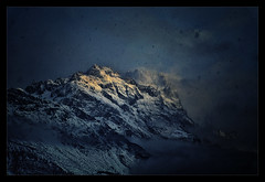 The perfect storm (Gio_ guarda_le_stelle) Tags: storm dolomiti dolomiten dolomites mountainscape landscape sky clouds wind snow cool ice windyday nevicata oggi anticata