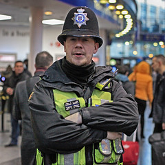 What you up to (Mick Steff) Tags: urban street male piccadilly station manchester police questions