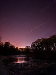 Star Race (stephen cosh) Tags: ayr ayrshire hasselbladx1d hasselbladxcd30mm landscape longexposure mediumformat riverdoon scotland startrails stephencosh
