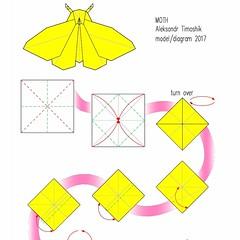 Moth diagram (shooroop83) Tags: origami diagram moth butterfly