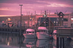 San Francisco (shishirmishra1) Tags: city sanfrancisco sunset light evening waterfront reflection boats usa california