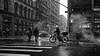 Bike Lane (Dj Poe) Tags: nyc ny manhattan newyorkcity newyork city candid bw blackandwhite blancoynegro leica monochrome monochrom leicammonochrom andrewmohrer djpoe snow snowing street streets leicaelmaritm21mm preasph 21mm