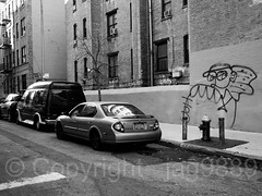 West 196th Street, Fort George, New York City (jag9889) Tags: 196street 2017 20171125 architecture art artwork auto automobile bw blackandwhite building car firehydrant fortgeorge graffiti house manhattan monochrome mural ny nyc newyork newyorkcity outdoor painting road sidewalk street streetart tagging transportation usa unitedstates unitedstatesofamerica uppermanhattan vehicle w196street w196thst wahi washingtonheights west196thstreet jag9889
