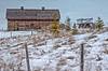Winter fences (L E Dye) Tags: fencefriday haywagon ukrainianculturalheritagevillage 2017 alberta canada d5100 ledye nikon prairie rural snow winter