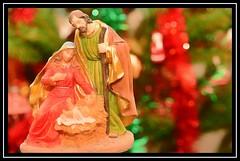 """The Nativity..."" (NikonShutterBug1) Tags: macro closeup nikond7100 spe smartphotoeditor tamron60mmmacro christmasdecorations christmastree christmas"
