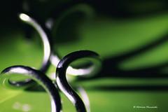 (Monica Muzzioli) Tags: green metal abstract shadow light shapes shiny macro